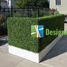 boxed artificial hedge