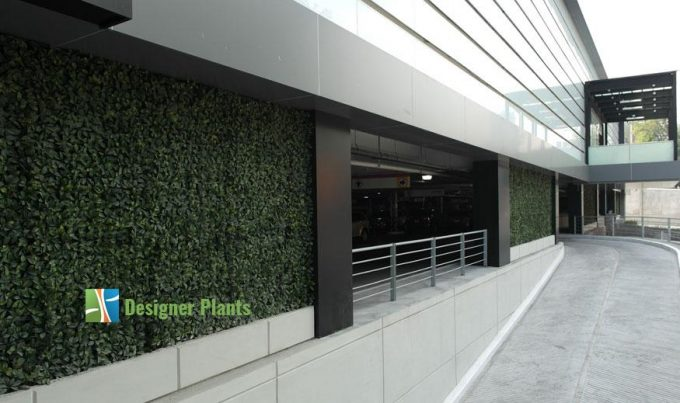Driveway With Artificial Plants3
