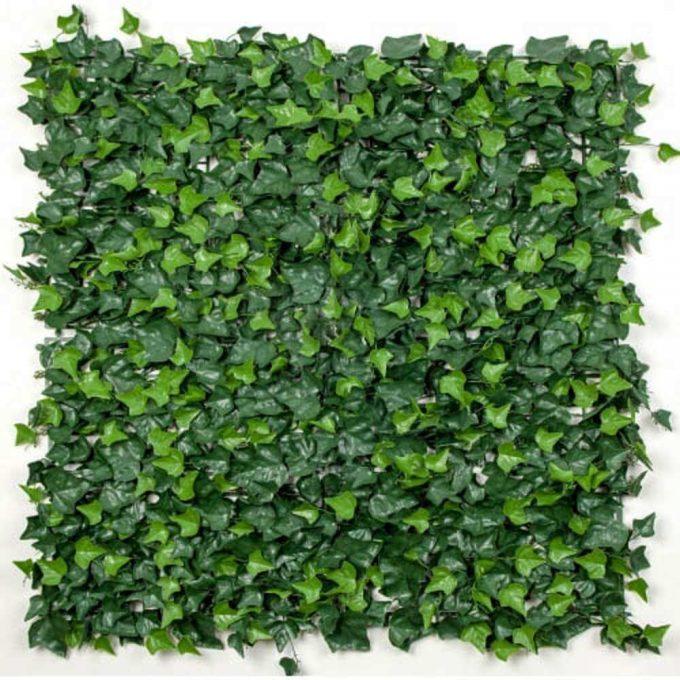 Artificial Boston Ivy Leaf Screen Green Wall Panel UV Resistant 1m x 1m
