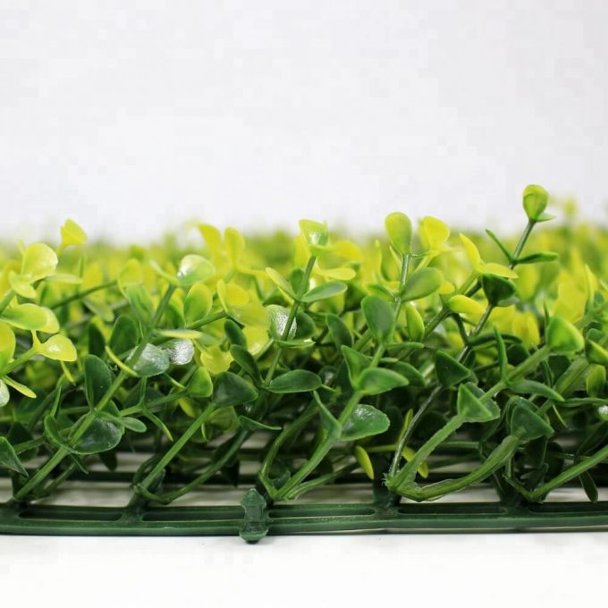 Artificial fake yellow buxus hedge panel
