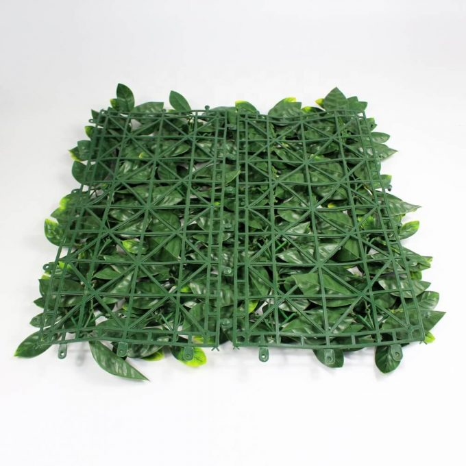 Artificial laurel hedge panel backing