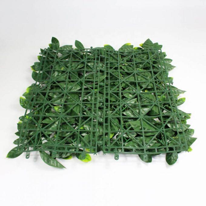 Artificial laurel hedge panel backing