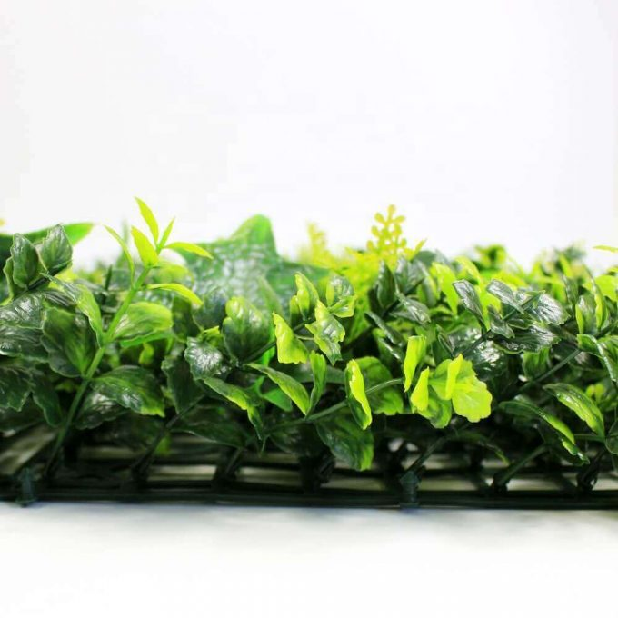 artificial mixed fern spring sensation hedge plant screen