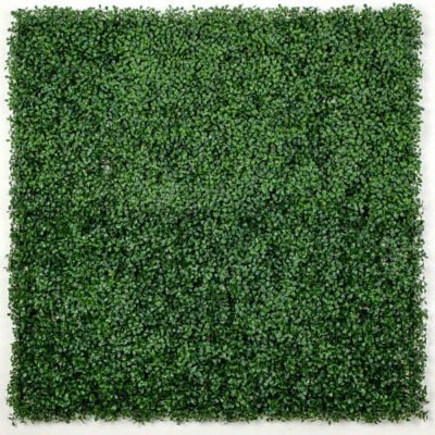 Fake Boxwood Hedge Leaf Screens Panels UV Resistant SAMPLE