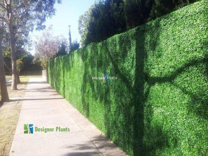 Fence With Artificial Plants4