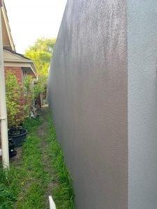 before green wall installation foam wall