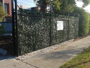 Artificial Ivy Panels on a fence or cyclone fence - double sided budget ivy