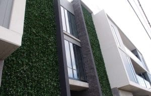 Artificial Photinia Green Wall Designed to compliment a commercial apartment development