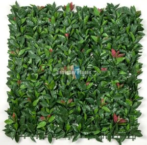 Artificial Photinia Vertical Garden Screen