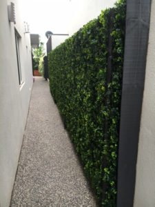 Artificial spring sensation fake hedge panels