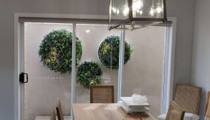 artificial green wall discs for walls