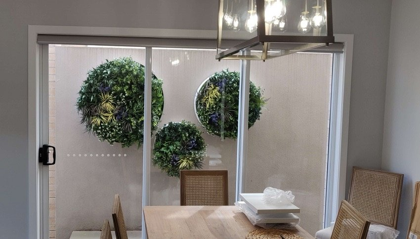 artificial green wall discs for walls