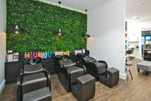 Vertical Garden wall for a hairdresser.