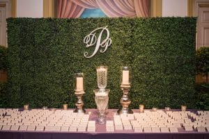 Artificial boxwood screen / wedding back drop
