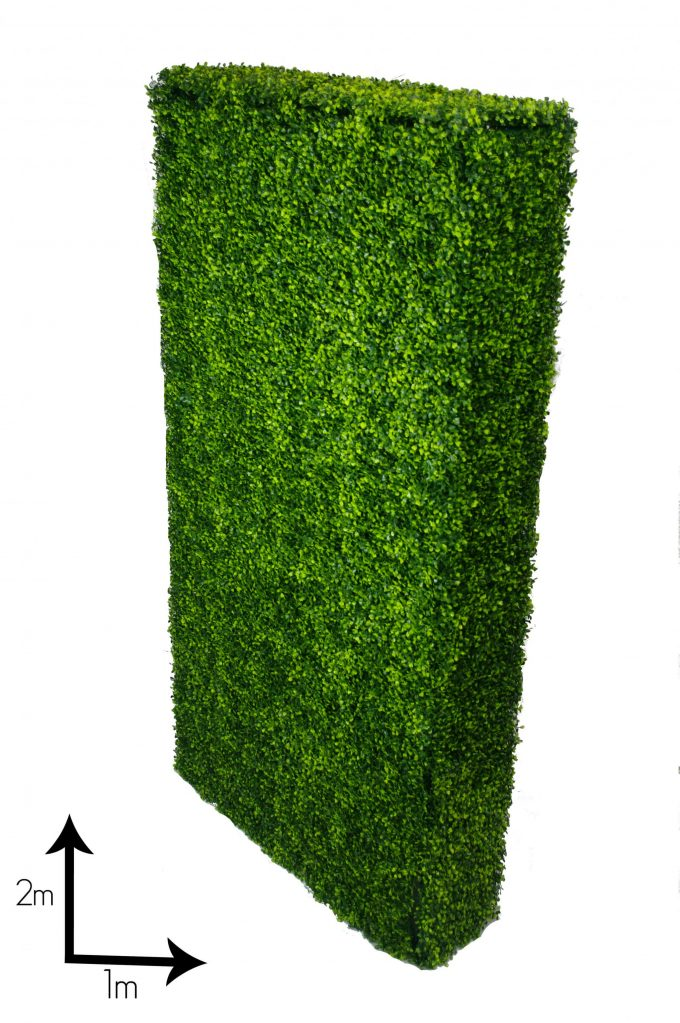 artificial / fake tall boxwood hedge