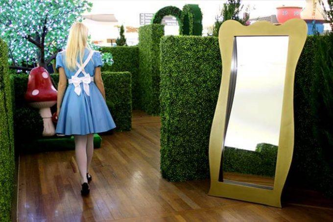 event maze hedge design
