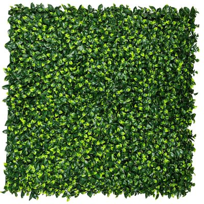 Jasmine leaf fake hedge panel tile