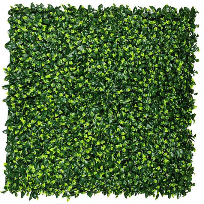 Jasmine leaf fake hedge panel tile