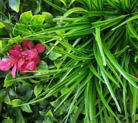 Artificial Pink Lily Vertical Garden Screen