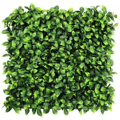 fake artificial jasmine hedge panel