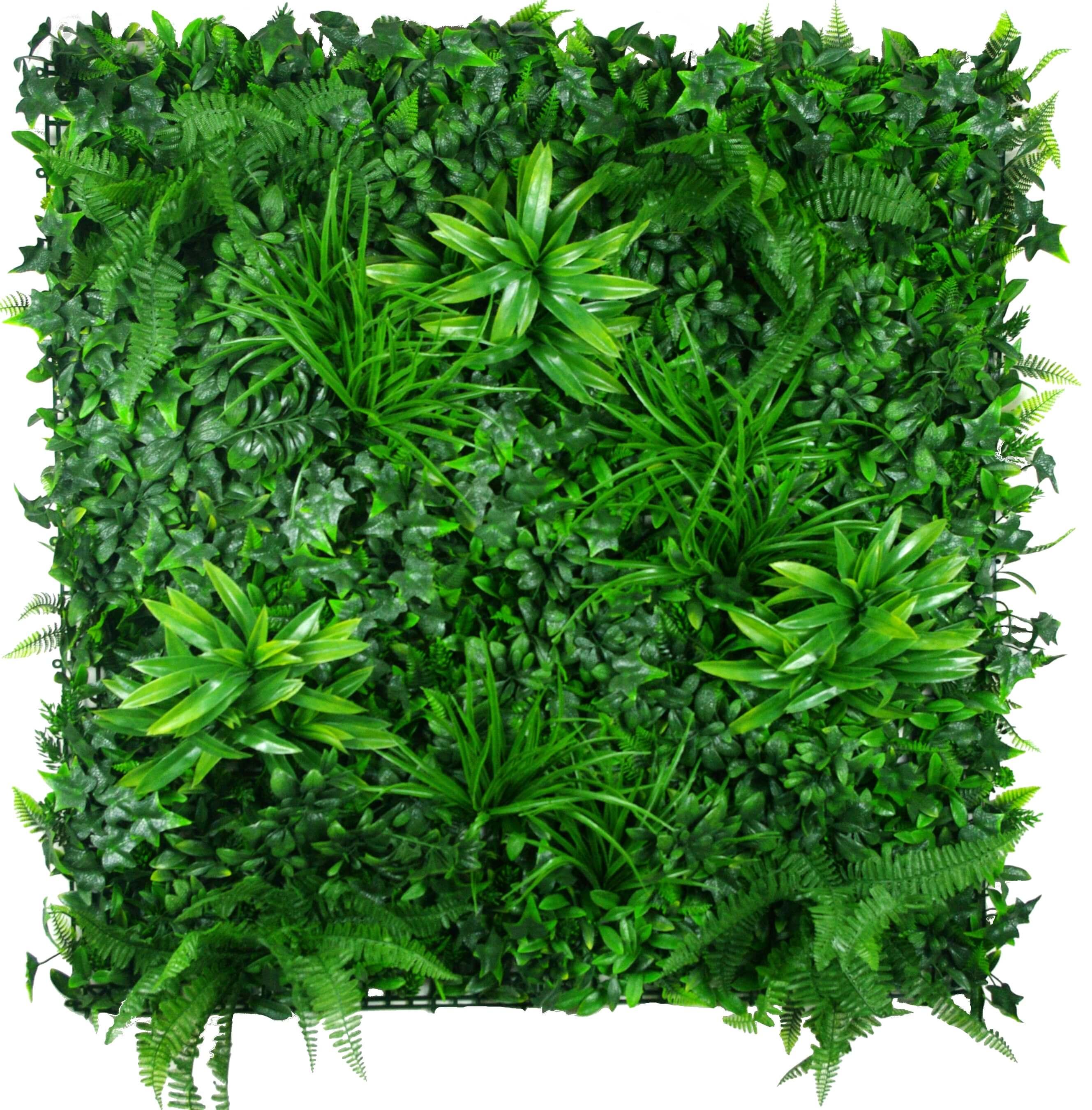 Outdoor Garden Wall Art: Green Tropics UV Stabilised Vertical Garden Wall