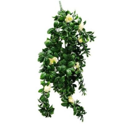 HANGING ARTIFICIAL WHITE ROSE