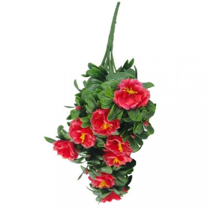 Artificial Plant-Red Rose Bunch UV Resistant 45cm