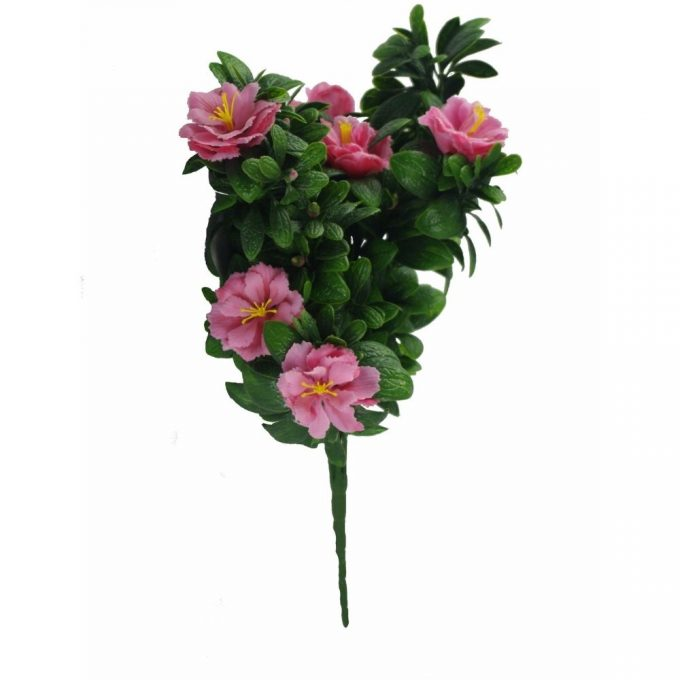 Artificial Plant-Pink Rose Bunch UV Resistant 45cm