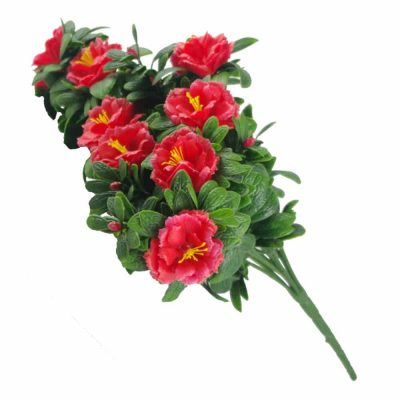 faux red rose bunch