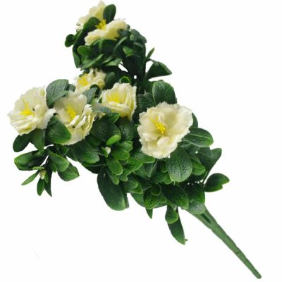 faux white rose bunch