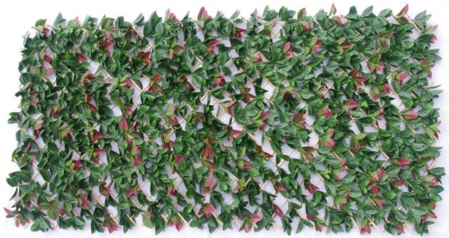 Artificial Plant-Photinia Hedge Extendable Trellis / Screen UV Resistant 2 Meter by 1 Meter