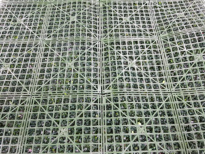 Artificial hedge boxwood mat backing