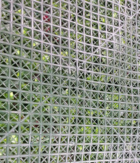 Backing of a fake green wall