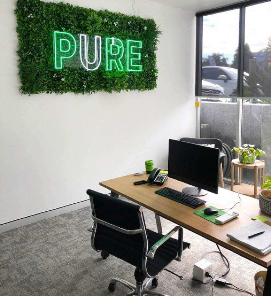 Office With Artificial Plants