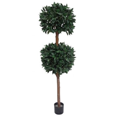 fake ficus tree with 2 topiary balls