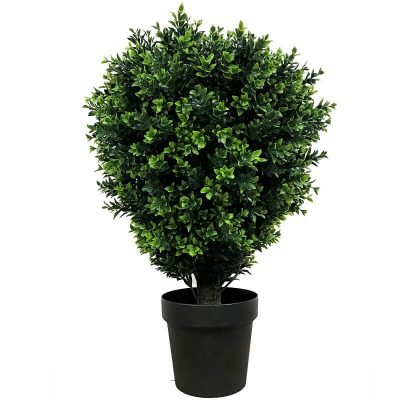 artificial UV shrub in a pot
