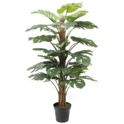 artificial potted philodendron plant