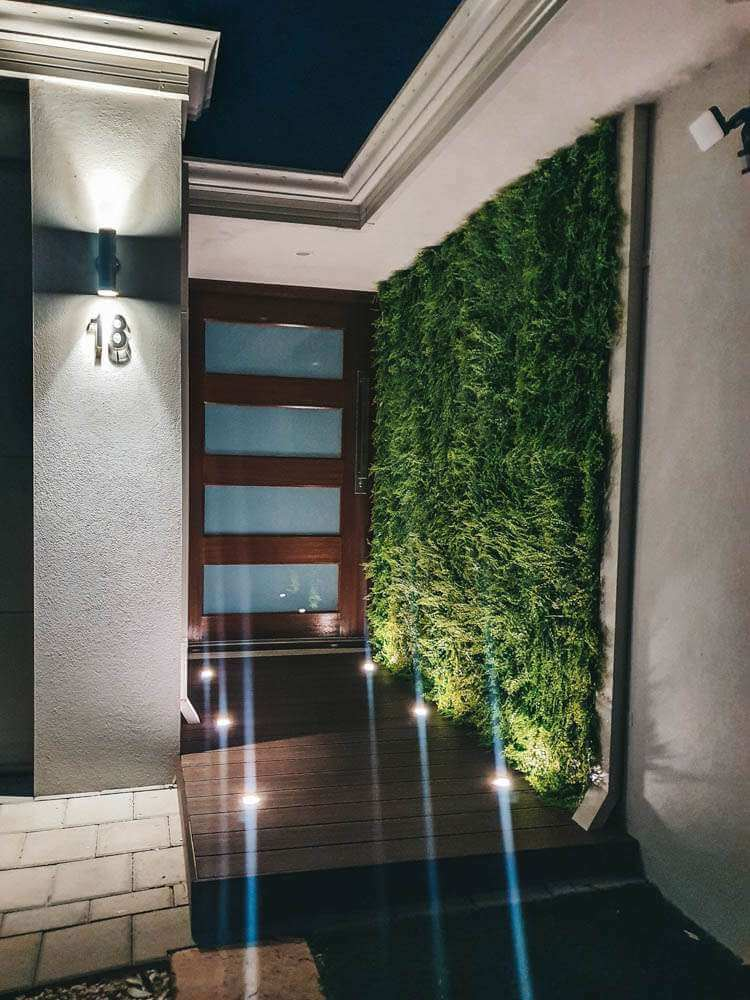 Entrance With Artificial Plants