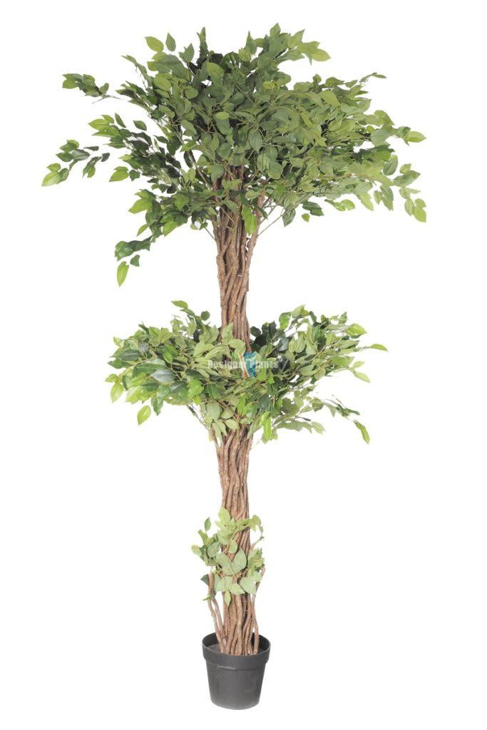 Artificial Ficus green leaf tree