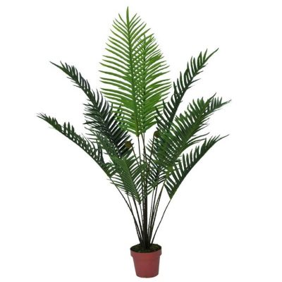 small potted artificial palm