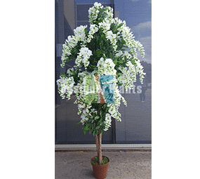 White artificial wisteria tree