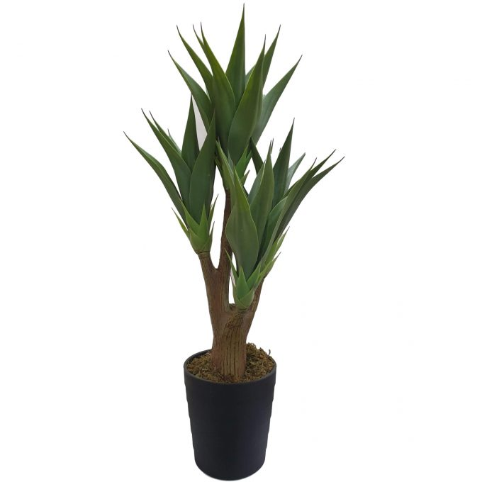 artificial potted yucca plant