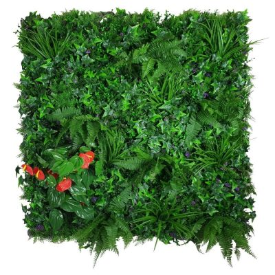 Artificial Plant - Mixed Jungle Vertical Garden Green Wall UV Resistant 1m x 1m