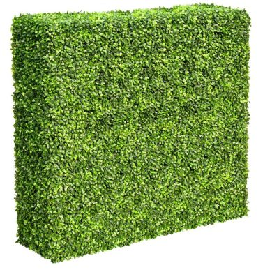 Artificial Plant-Large Portable Mixed Boxwood Hedge 1.5m by 1.5m UV Resistant