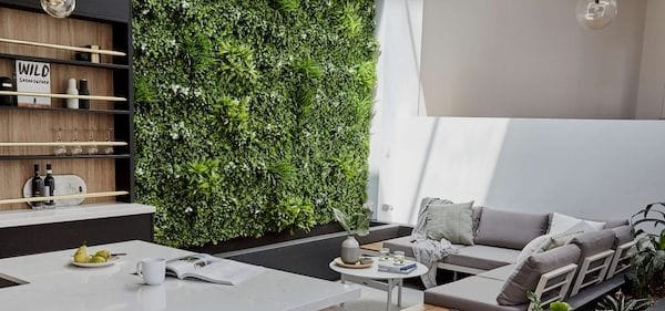 Dinning Room With Artificial Plants