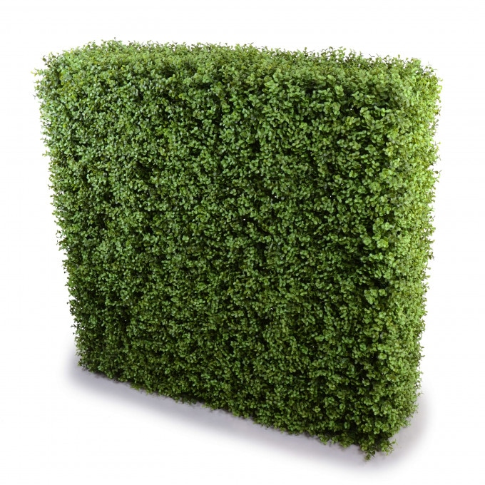 Artificial Plant-Deluxe Portable Buxus Hedge UV Resistant 100cm Long x 100cm High