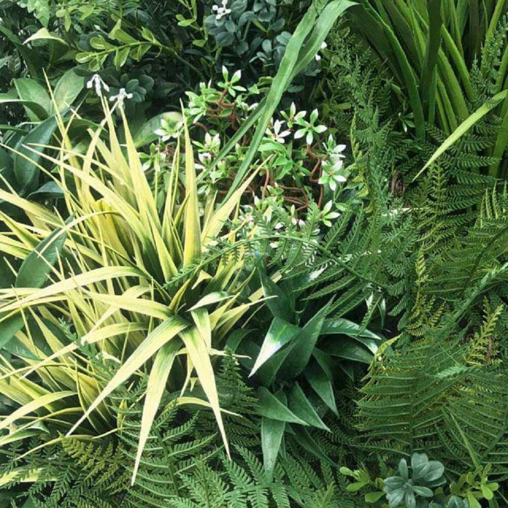 Autumn Greenery Bespoke Vertical Garden / Green Wall UV Resistant 90cm x 90cm