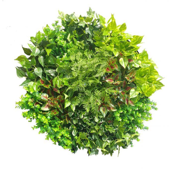 Artificial Plant Green Wall Disks and vertical garden disk