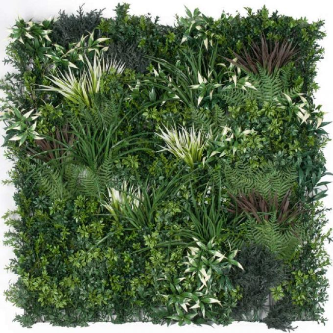 Artificial Green Wall Panels - Mixed Plant Panel