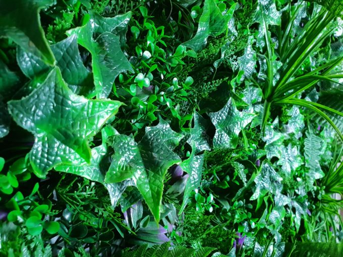 Mixed Jungle artificial green wall hedge panel